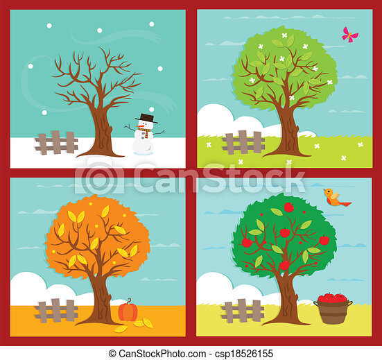 an illustration of the four seasons eps10 clipart vector search rh canstockphoto co uk clipart seasons of the year seasons clipart images