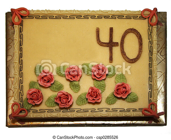 The fourtieth birthday cake - csp0285526
