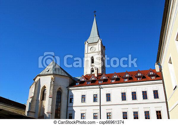 (the, franciscan, st. 。, アンソニー, padua, kosice, 教会, スロバキア, church) - csp66961374