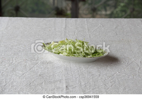 the fresh cabbage salad in a plate - csp36941559