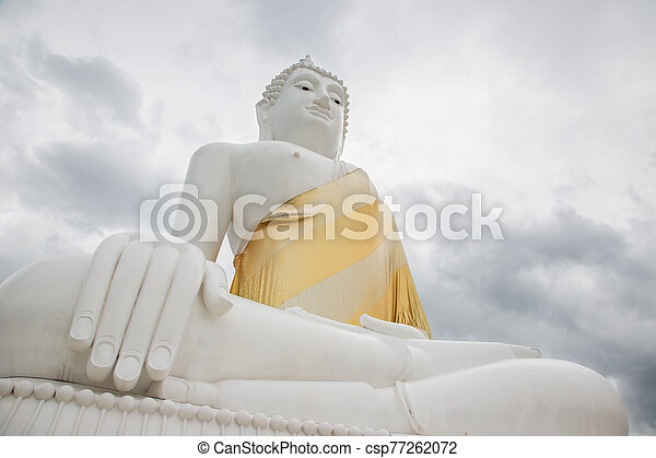 The front of the Buddha, the representative of Buddhist Buddhism in Asia. - csp77262072