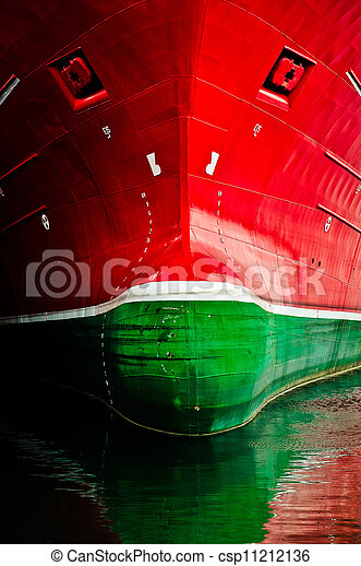 The frontface of a very large ship - csp11212136