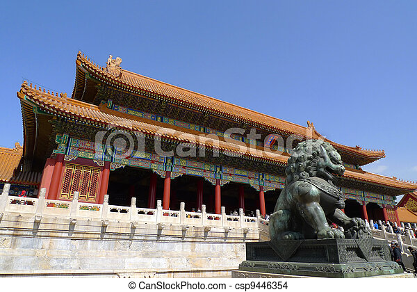 The gate of Supreme Harmony in the Forbidden City - csp9446354