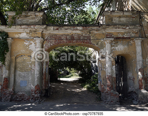 The gate of the old house - csp70787935