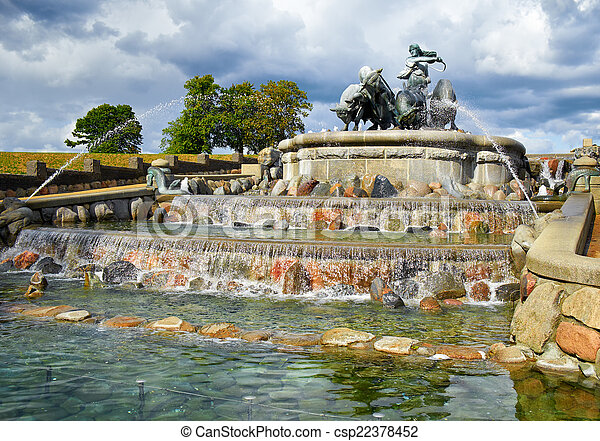 The Gefion Fountain, Copenhagen. - csp22378452