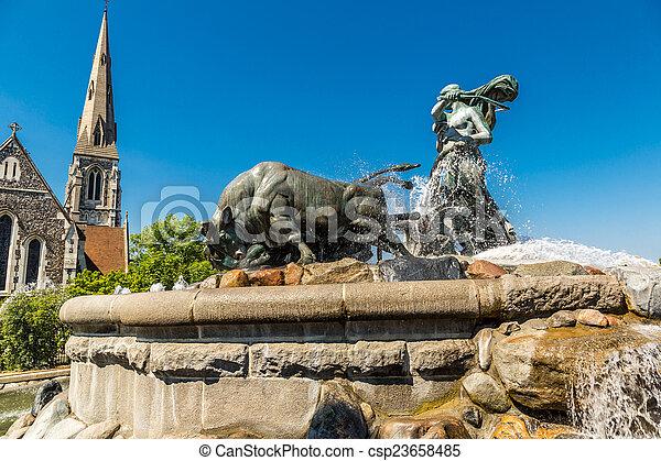 The Gefion fountain in Copenhagen - csp23658485