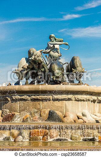 The Gefion fountain in Copenhagen - csp23658587