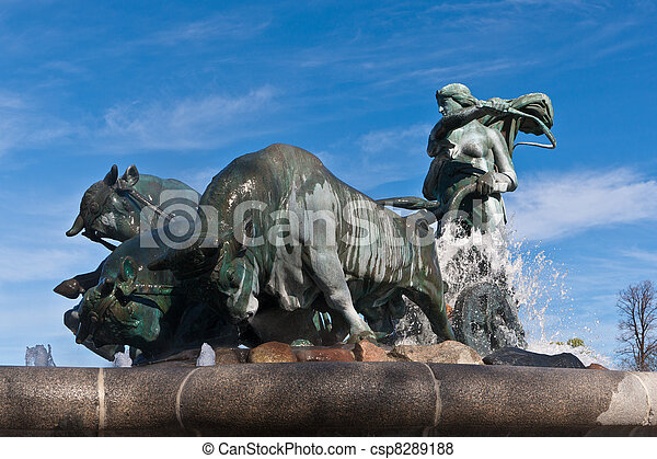 The Gefion fountain - csp8289188