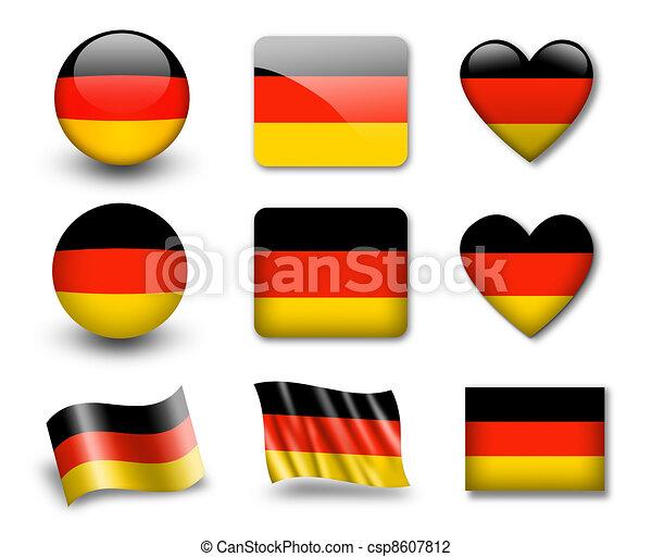 The German flag - csp8607812