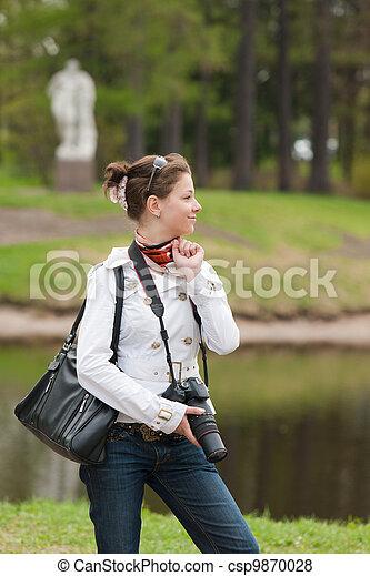 the girl in spring park - csp9870028