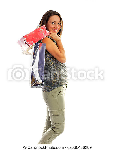 the girl with purchases - csp30436289