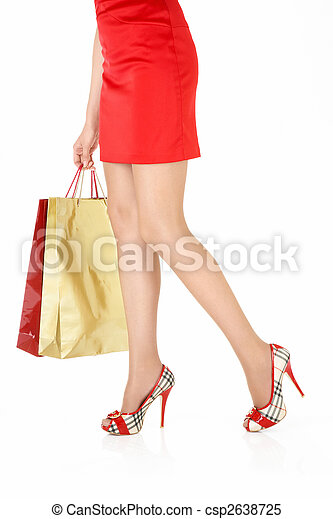 The girl with purchases - csp2638725