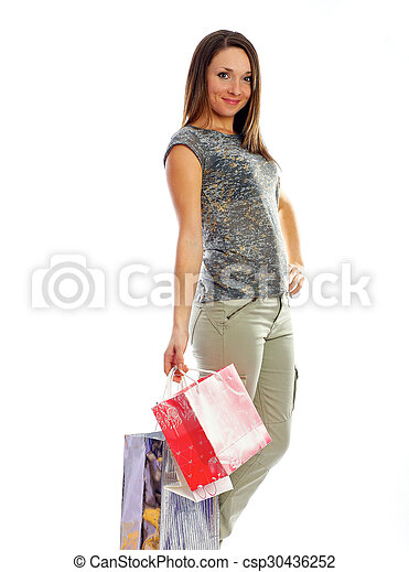 the girl with purchases - csp30436252