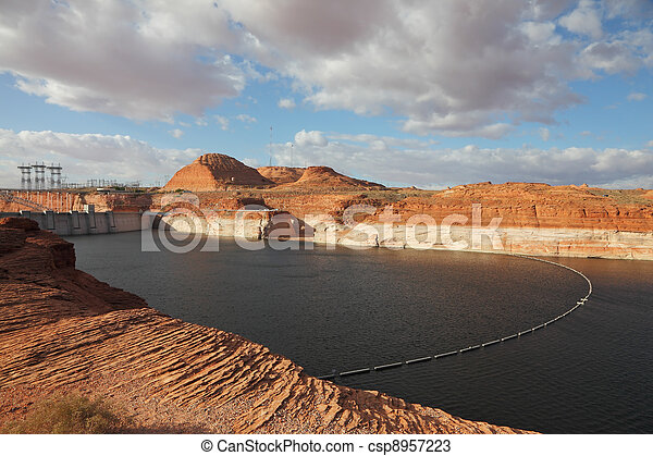 The Glen Canyon Dam and Lake Powell - csp8957223