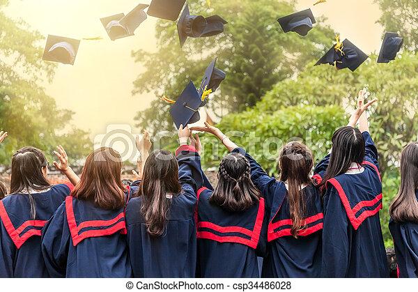 The graduation ceremony - csp34486028