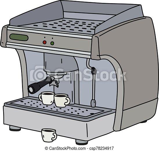 The gray espresso maker - csp78234917