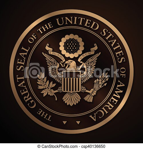 0c6128a79 The great seal of the us gold. Highly detailed vector design of a ...