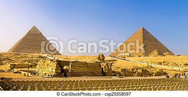 the great sphinx and the pyramids of giza egypt