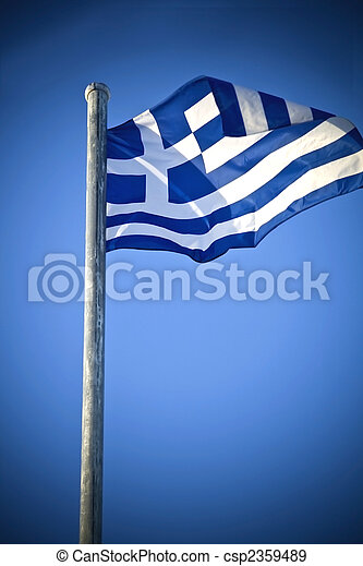 The Greek national flag - csp2359489