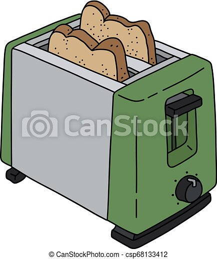 The green electric toaster - csp68133412
