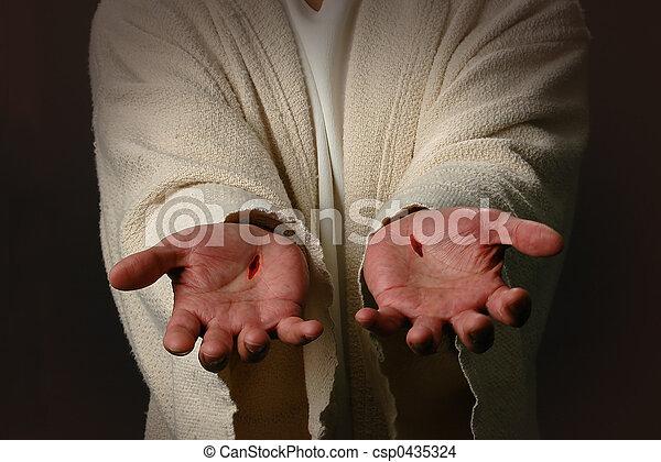 The Hands of Jesus - csp0435324