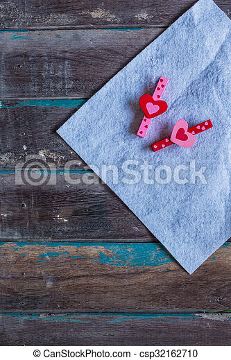 The heart on a wooden - csp32162710