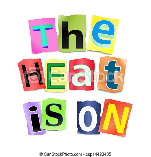 The heat is on. - csp14423405