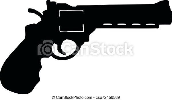 The heavy long revolver - csp72458589