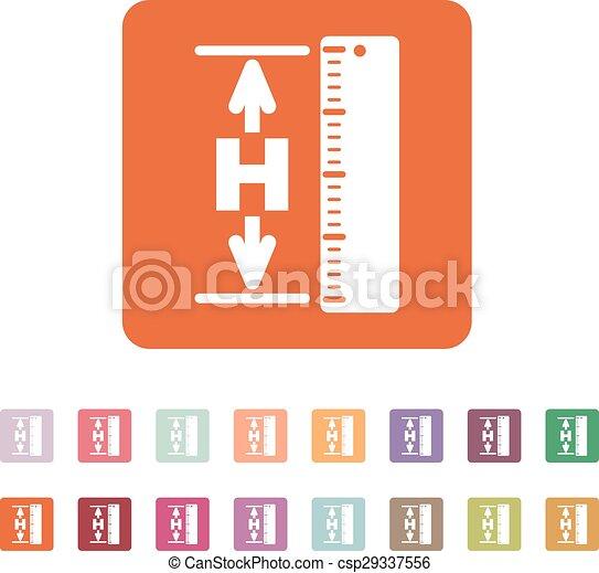 The Height Icon Altitude Elevation Level Hgt Symbol - Altitude elevation