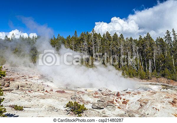 The highest geyser in Yellowstone National Park, Utah, USA - csp21480287
