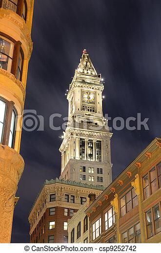The historic Custom House Tower built 1915 in Boston, Massachusetts. - csp9252742