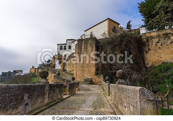 the historic old town of Ronda in Andalusia - csp89730924