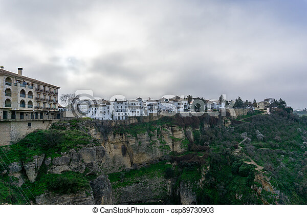 the historic old town of Ronda in Andalusia - csp89730903