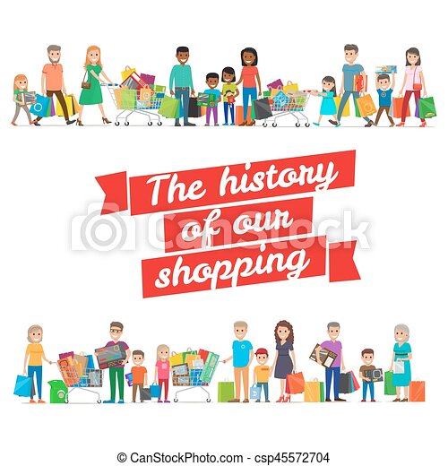 The History of our Shopping Concept with Families - csp45572704