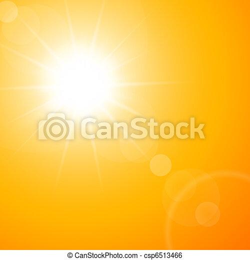 The hot summer sun - csp6513466