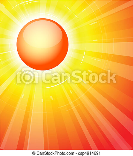 The hot summer sun - csp4914691