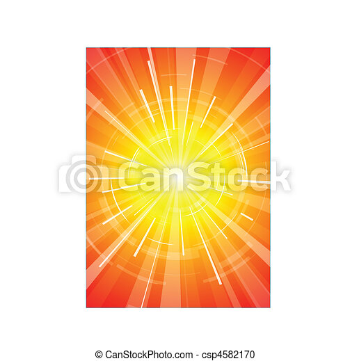 The hot summer sun - csp4582170