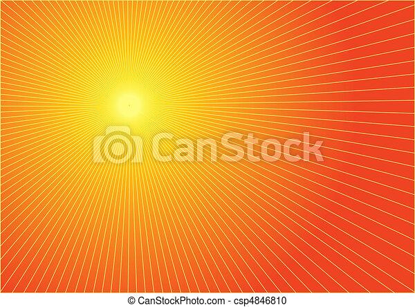 The hot summer sun - csp4846810