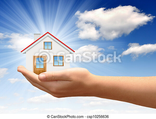 The house in hands - csp10256636