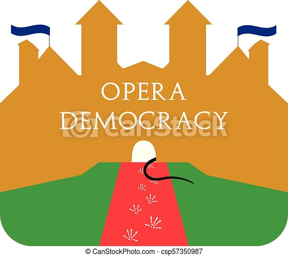 The House Of Opera Satire Illustration About Politic And
