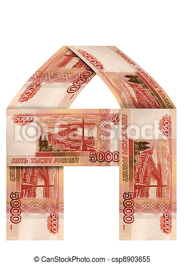 The house of Russian banknotes - csp8903655