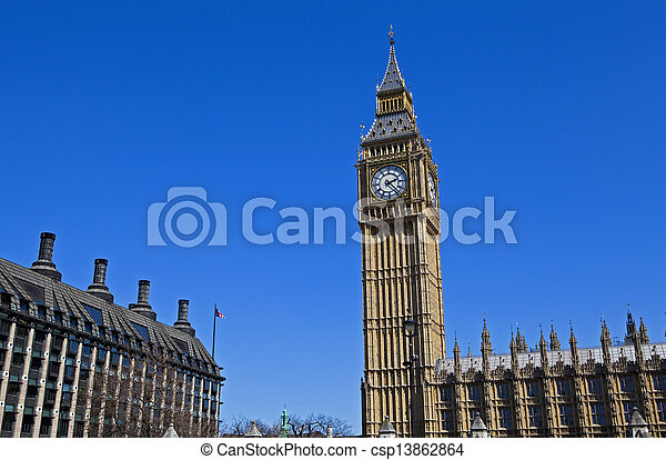 The Houses of Parliament in London - csp13862864