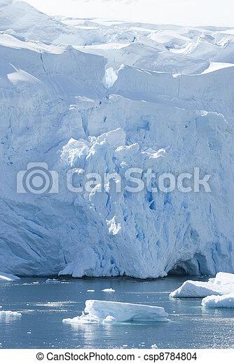 The ice sheet of Antarctica. - csp8784804