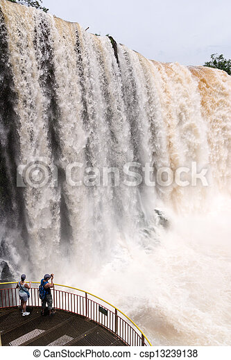 The Iguacu falls seen from the brazilian side - csp13239138