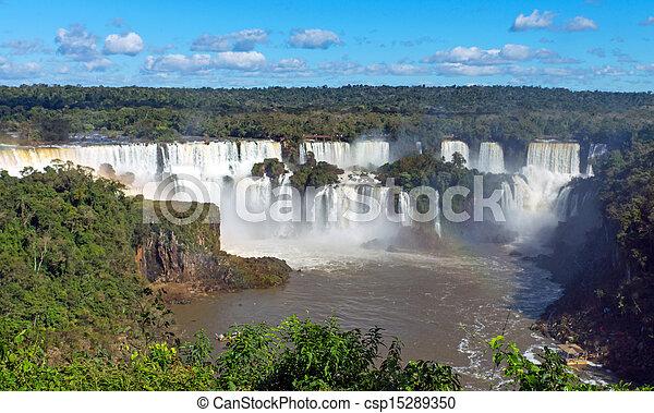 The Iguazu falls in Argentina - csp15289350