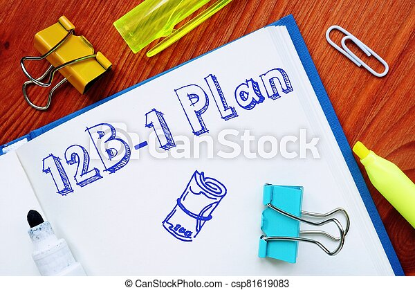 The image contains the inscription 12B-1 Plan on a notepad sheet. - csp81619083