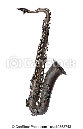 The image of a saxophone isolated - csp19863743