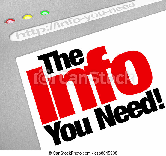 The Info You Need Website Screen Computer Internet Browser - csp8645308