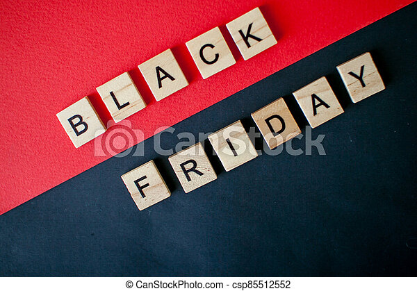 The inscription black friday from wooden blocks - csp85512552