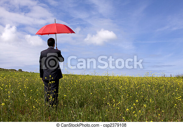 The insurance man - csp2379108